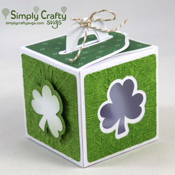 Shamrock Handle Box SVG File