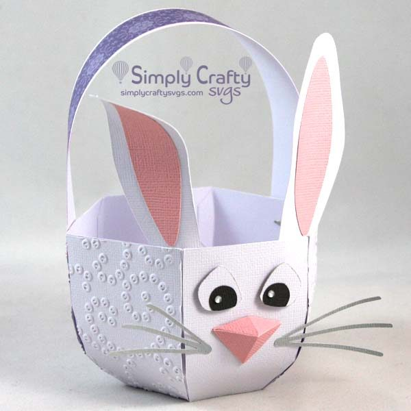 Make this Easter basket using the 3D Bunny Easter Basket SVG File.