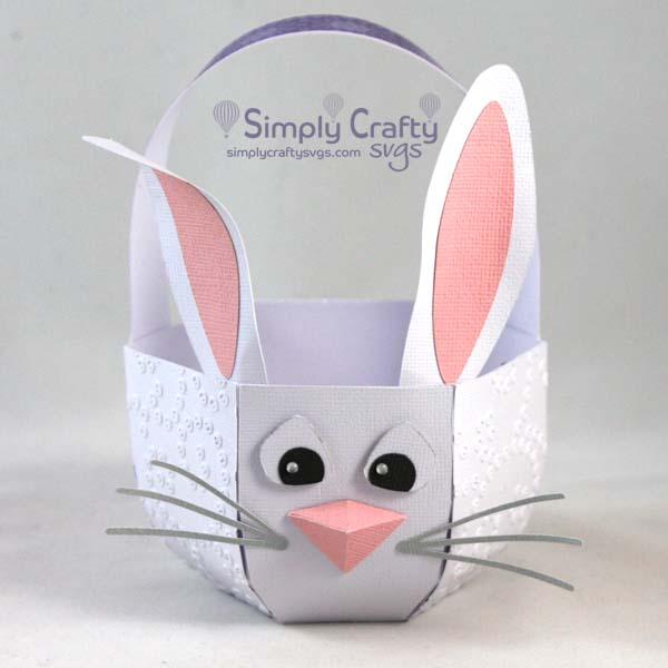 Make this Easter basket using the 3D Bunny Easter Basket SVG File.