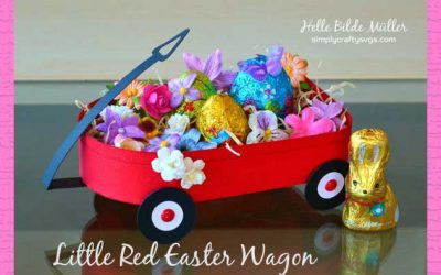 Little Red Easter Wagon by DT Helle