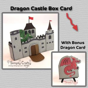 Dragon Castle Box Card SVG File