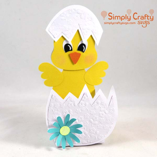 Easter Chick Treat Box SVG File