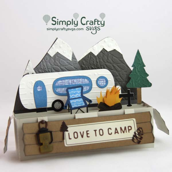 Mountain Camping Box Card Svg File Simply Crafty Svgs