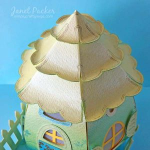 Pearl and Foil Egg House by DT Janet