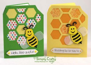 Busy Bee Card SVG File