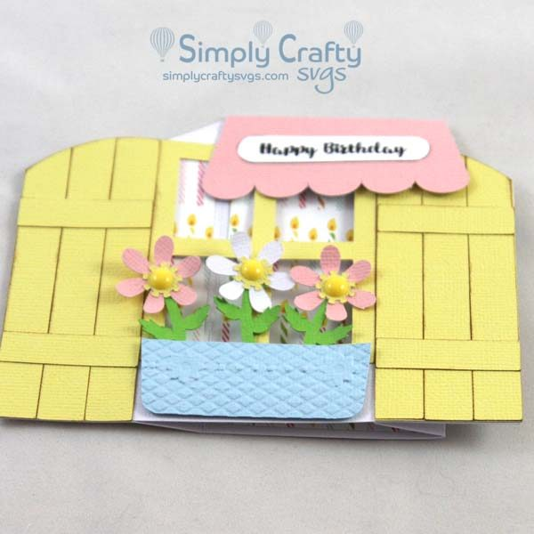 Garden Window Card SVG File