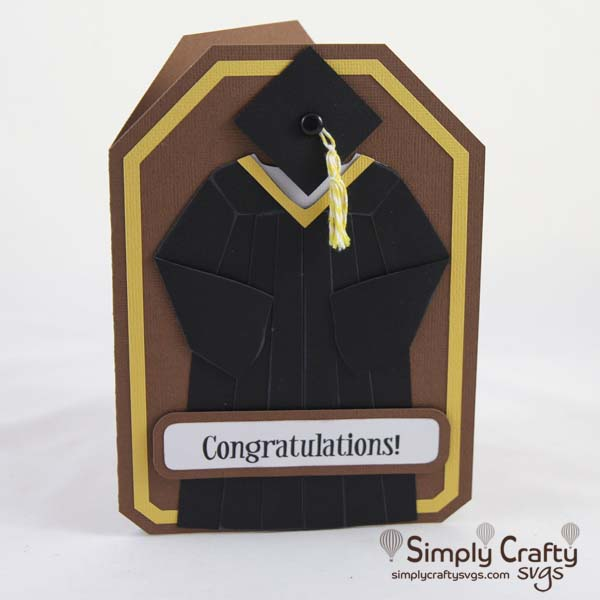 Graduation Gown Card SVG file
