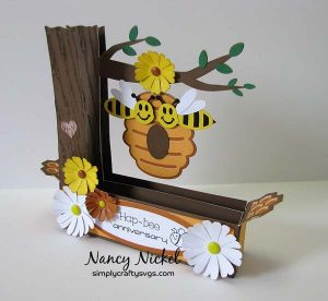 Buzzing Bees Box Card by Nancy
