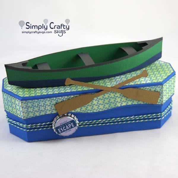 Canoe Gift Box SVG File