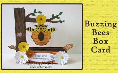 Buzzing Bees Box Card by Nancy