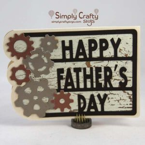 Gears Fathers Day Card SVG File