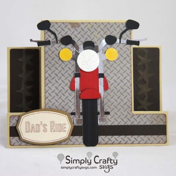 Motorcycle Step Card SVG FIle