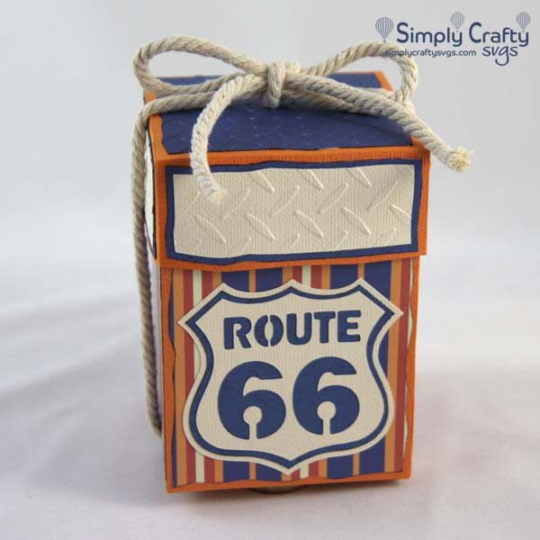 Route 66 Gift Box SVG File