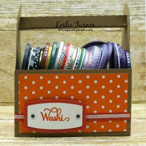 Washi Tape Caddy by Leslie