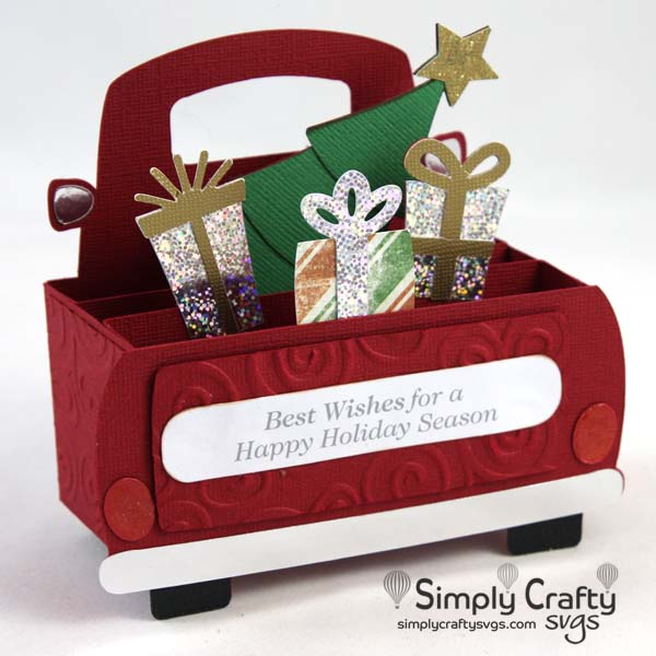 Presents Truck Card SVG file