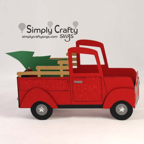 Christmas Tree Delivery Box Card SVG file