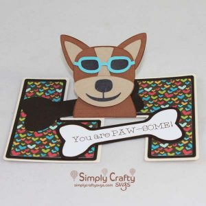 Dog with Shades Card SVG File