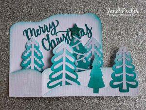 Monochrome Christmas Tree Farm Card by Janet
