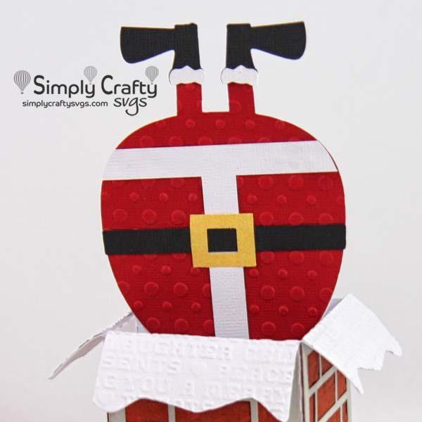 Santa Delivers Box Card SVG File