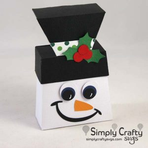 Snowman Favor Box SVG file