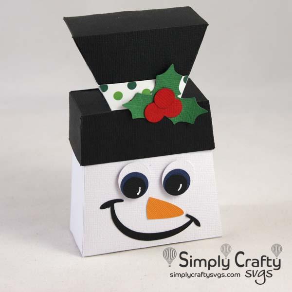 Snowman Favor Box SVG file