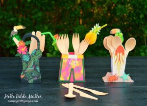 Summer Party Utensil Holders by Helle