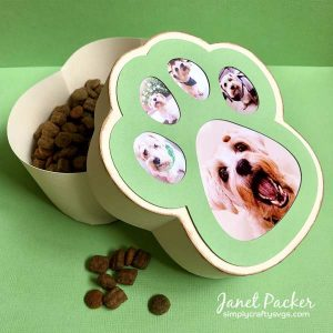 Dog Paw Photo Box by Janet