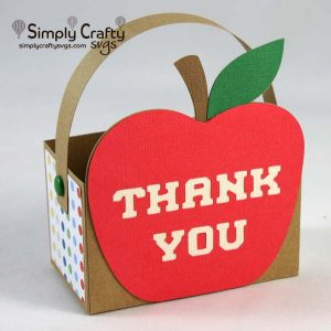 Teacher's Apple Bag SVG File