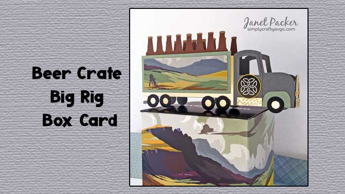 Beer Crate Big Rig Box Card by Janet