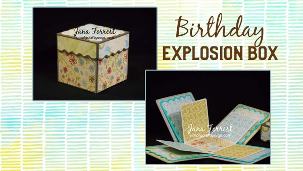 Birthday Explosion Box by Jana