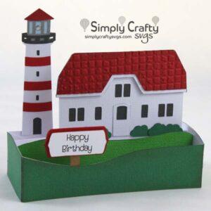 Lighthouse Card SVG File
