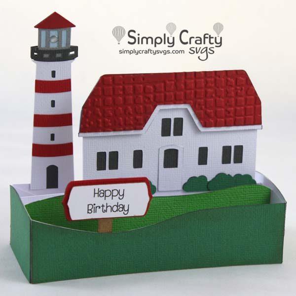 Lighthouse Card SVG File