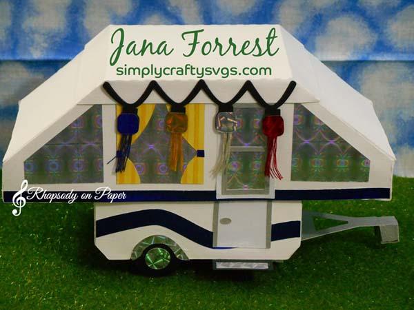 Tent Trailer Box by Jana