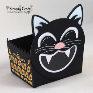 Black Cat Treat Box SVG File