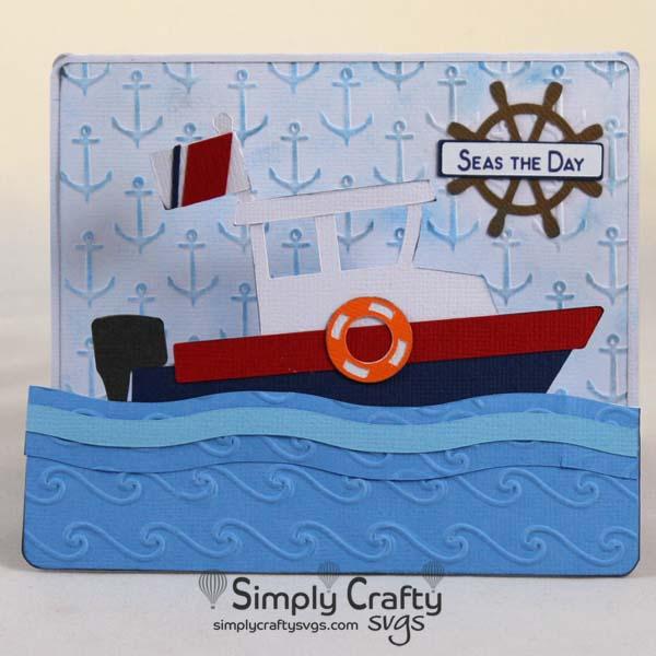 Boat Step Card SVG File