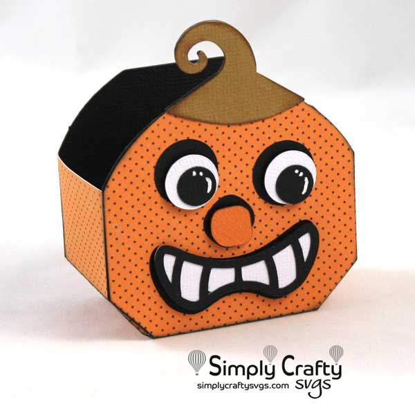 Crazy Pumpkin Box SVG File