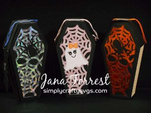 Creepy Coffin Treat Boxes by Jana