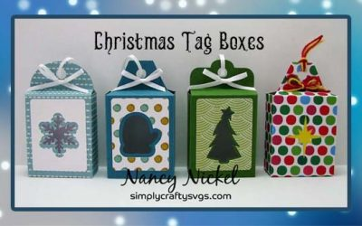Christmas Tag Boxes by Nancy