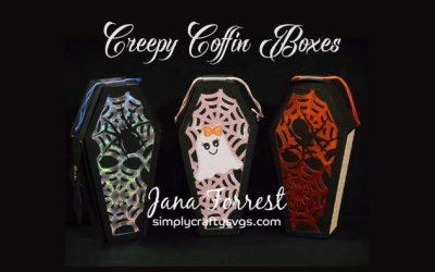 Creepy Coffin Treat Boxes by Jana