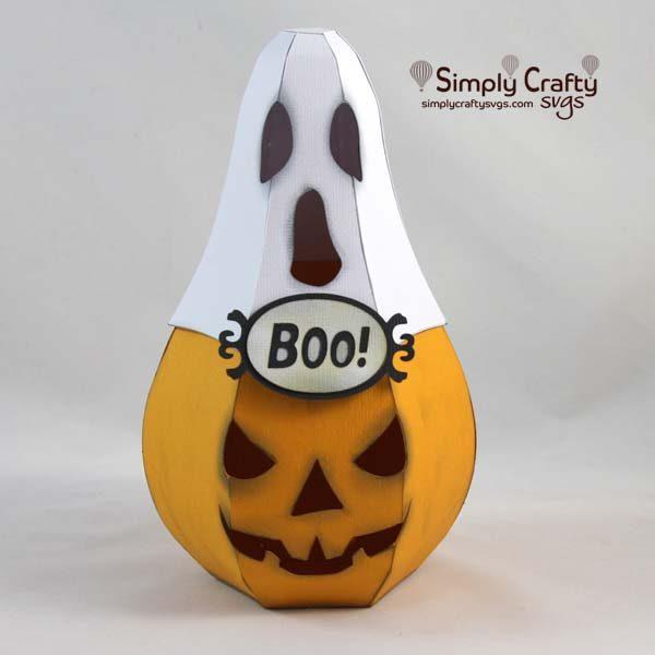 Ghost Pumpkin Luminary SVG File