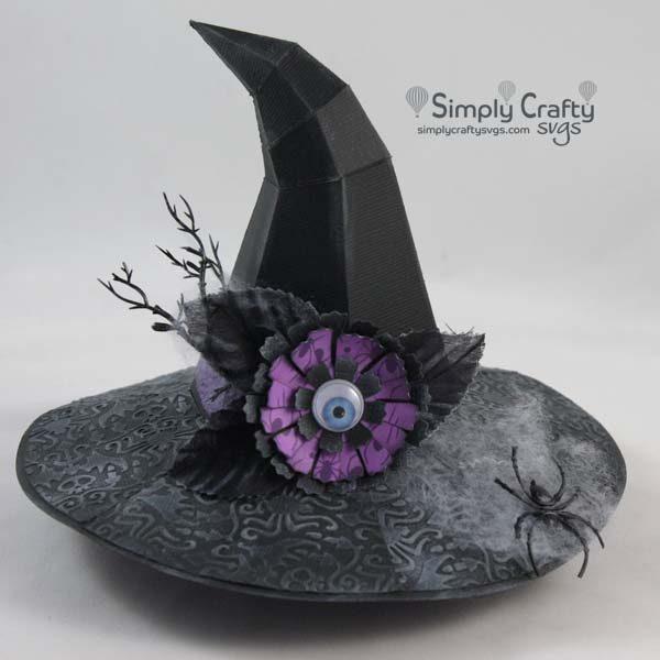 Hovering Witch Hat SVG FIle