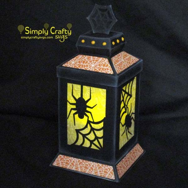 Spider Web Lantern SVG File