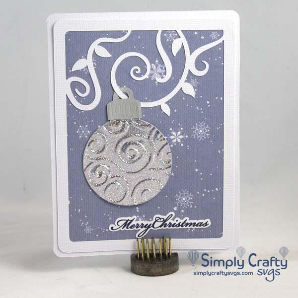 Flourish Ornament Card SVG File