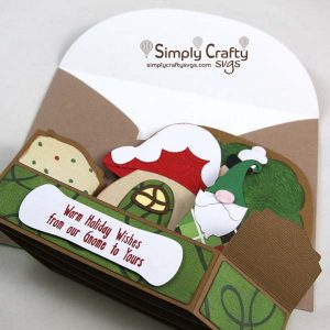 Gnome for the Holidays Card SVG File