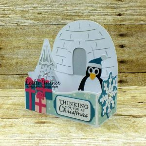 Penguin Christmas Card by Leslie