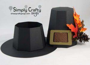 Pilgrim Hat Box SVG File