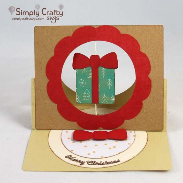 Present Spinner Easel Card SVG file