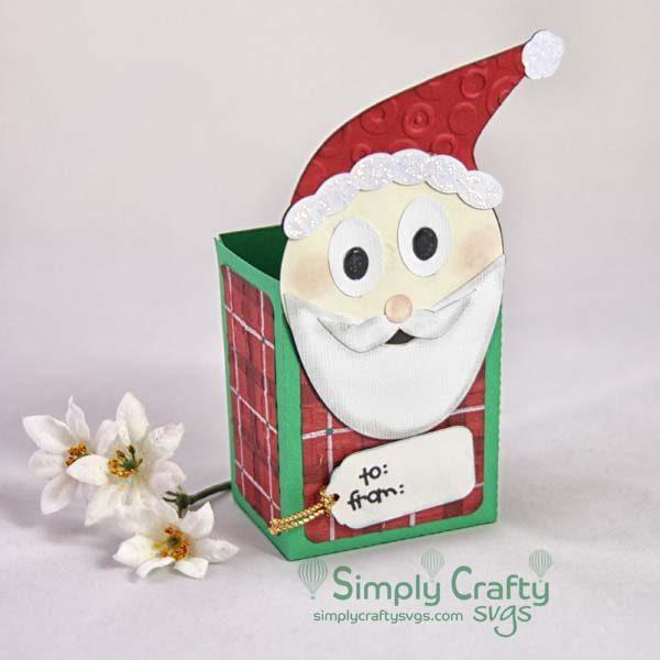 Smiley Santa Christmas Treat Box Set SVG File