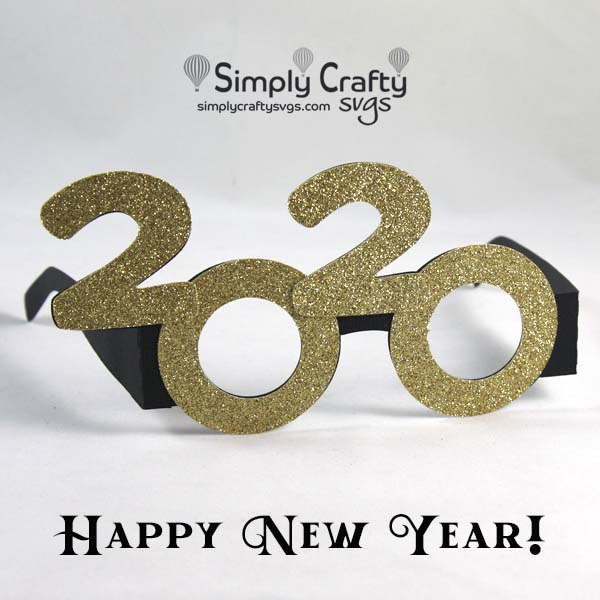 2020 New Years Glasses SVG File
