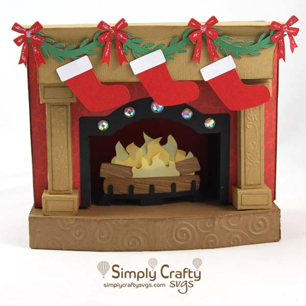 Christmas Fireplace SVG File